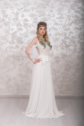 שמלת כלה מקסי עם שרוול ארוך