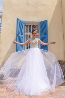 שמלת כלה נסיכתית בסגנון רומנטי