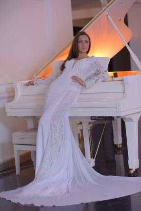 שמלת כלה מקסי חורפית