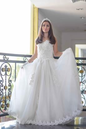 שמלת שיפון נסיכתית לכלה