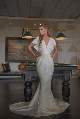 שמלת כלה הוליוודית בגזרת בת ים