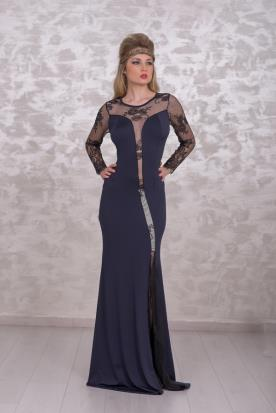 שמלת ערב שחורה חושנית