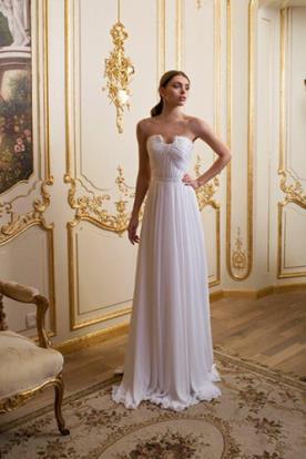 שמלת כלה סטרפלס בסגנון רומי