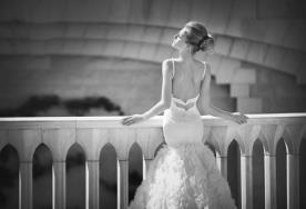 שמלת כלה בת הים טול מכווץ