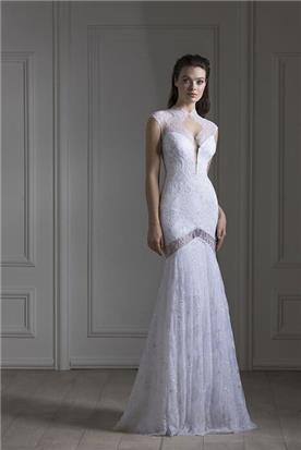 שמלה עם כתפיות עבות