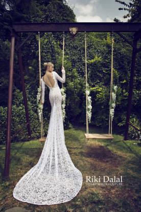שמלת כלה תחרה עשירה