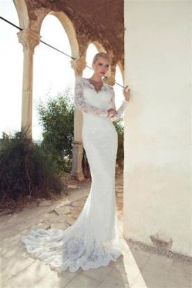 שמלת כלה שרוול ארוך תחרה