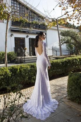 שמלות כלה שרוולים וגב חשוף