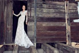 שמלת כלה תחרה צנועה מרשימה