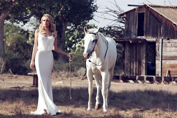 שמלת כלה חולצה רפויה לבנה