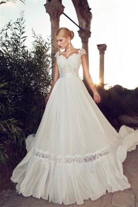 שמלת כלה חצאית רחבה שיפון