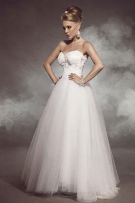 שמלת כלה נסיכתית סטרפלס