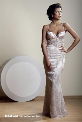 שמלת ערב בז' סאטן