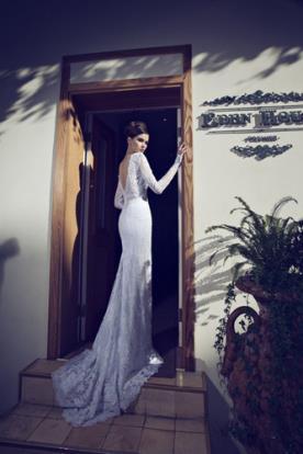 שמלת כלה גב משולש חשוף