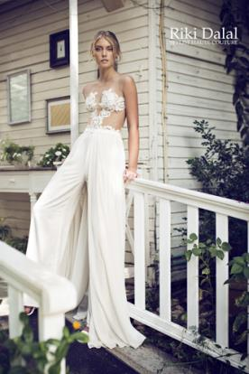 שמלת כלה חליפת מכנסיים תחרה