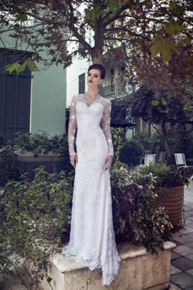 שמלת כלה תחרה מעל סטרפלס