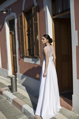 שמלת כלה חצאית סאטן רחבה