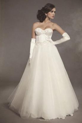שמלת כלה נסיכתית מחוך סאטן
