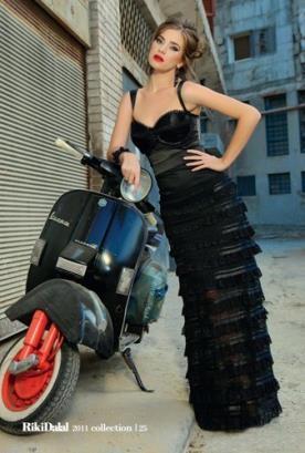 שמלת כלה שחורה קומות צפופות