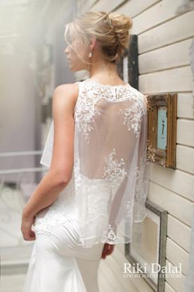 שמלת כלה עליונית תחרה וכיווצים