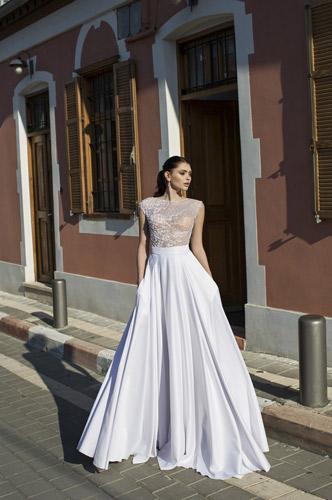 שמלת כלה תחרה וחצאת עם כיסים