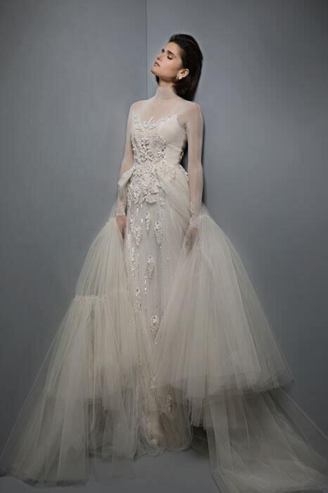 שמלת כלה מבד טול