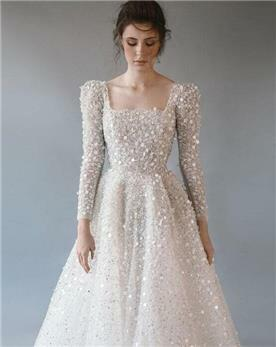 שמלת כלה מעוצבת - תקריב