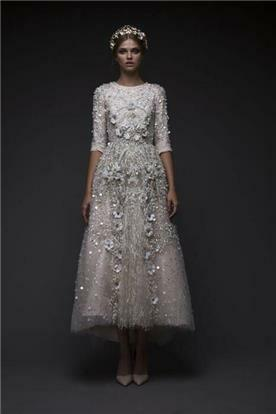 שמלת כלה עם שרוול שלושת רבעי