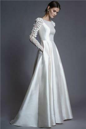 שמלת כלה מבד אורגנזה