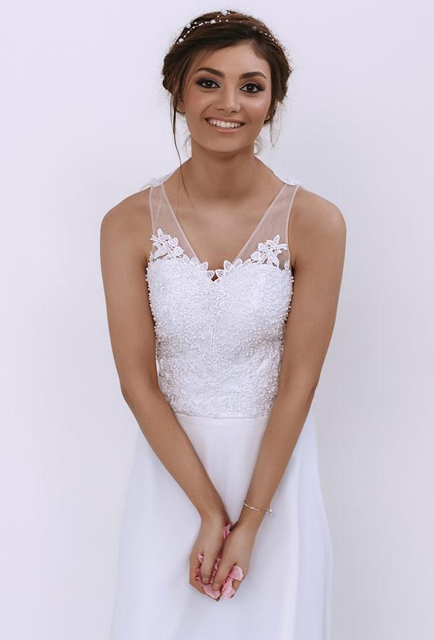 שמלת כלה רומנטית ותחרה שקופה