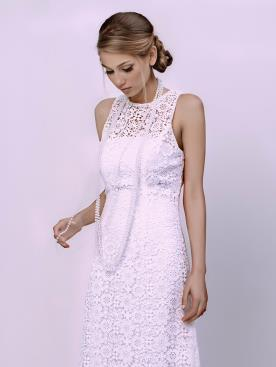 שמלת כלה עם גופיית תחרה