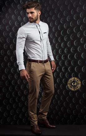 חליפת חתן- מכופתרת עם גימור פס דק