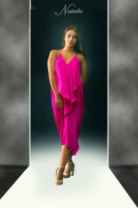 שמלת ערב פוקסיה