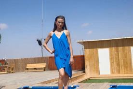 שמלת ערב מיני כחולה