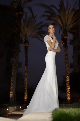 שמלת כלה מקסי עם שרוול קצר