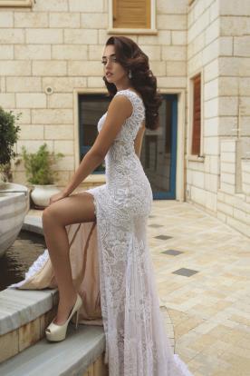 שמלת כלה מקסי עם שסע