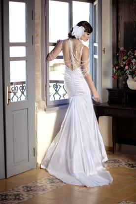 שמלת כלה סאטן רומנטית הוליוודית