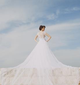 שמלה נפוחה מרשימה לכלה