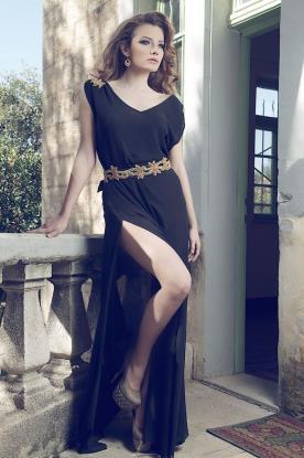 שמלת ערב קלאסית בסגנון יווני