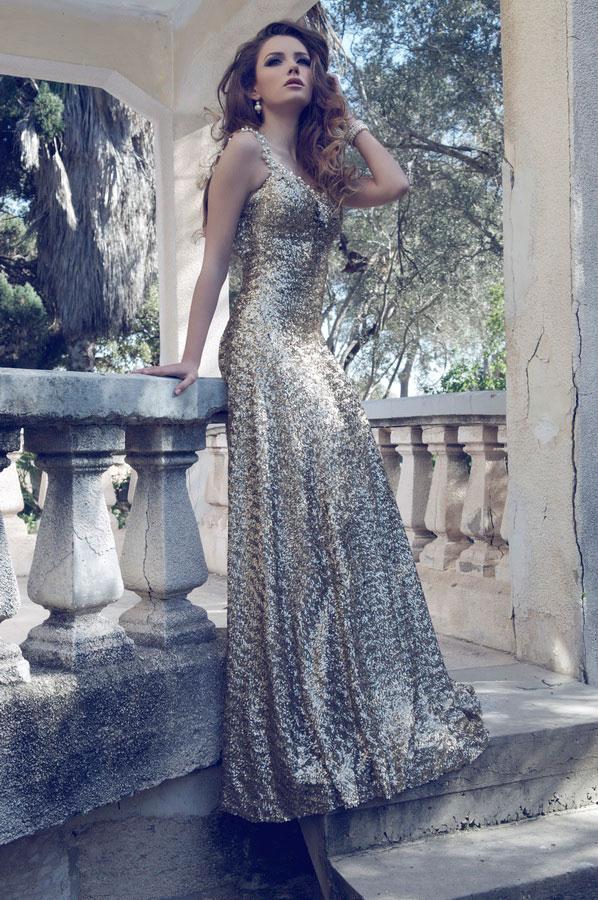 שמלת ערב רומנטית למראה זוהר