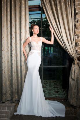 שמלת כלה צמודה בסגנון קלאסי