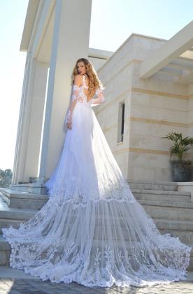 שמלת כלה בסגנון רומנטי עדין