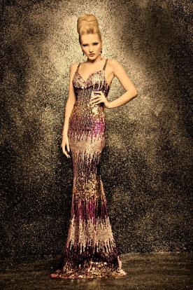שמלת ערב עם פייטים