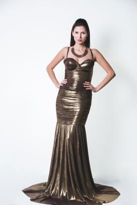 שמלת ערב בת ים מטאלית