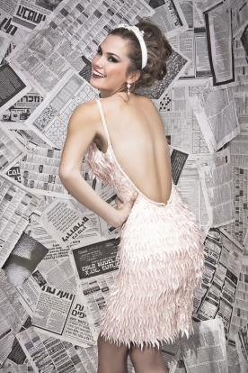 שמלת ערב פרנזים רומנטית