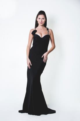 שמלת ערב סקסית עדינה