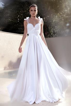 שמלת אמפיר כפרית לכלה