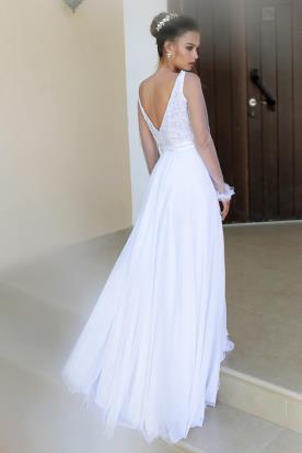 שמלת כלה מחשוף V בגב