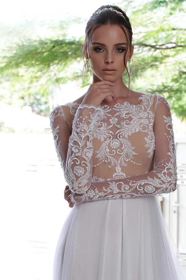 שמלת כלה חורפית דמוי ניוד