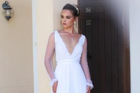 שמלת כלה עם שרוולי אורגנזה